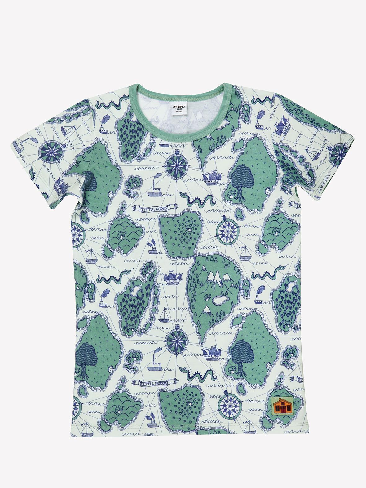 Mod 233 Erska Huset Little World Organic Cotton T Shirt 98cm