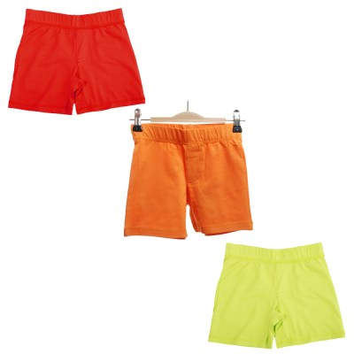MTAF red orange lime green organic shorts