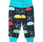 DUNS Sweden umbrella print trousers on dark blue organic cotton