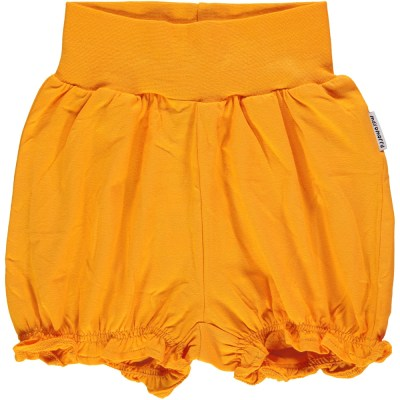 Maxomorra basics orange balloon shorts organic cotton