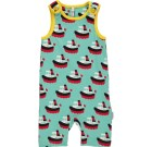 ZBoat short playsuit dungarees by Maxomorra in organic cotton (6-9 months)