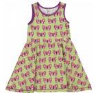 Maxomorra butterfly print organic twirly sleeveless dress
