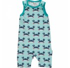 Crab short playsuit dungarees by Maxomorra in organic cotton