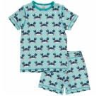 Maxomorra organic summer short sleeve pyjamas in crabs print