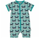 Crab organic cotton short sleeve romper suit – Maxomorra