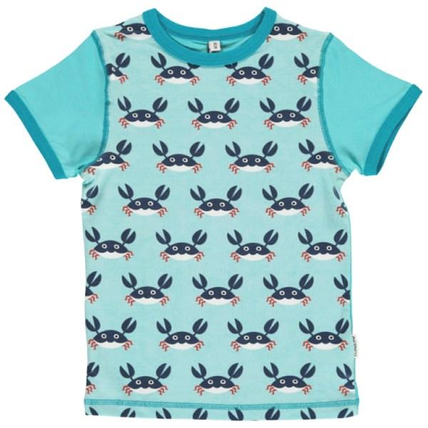 Maxomorra crab t-shirt organic cotton