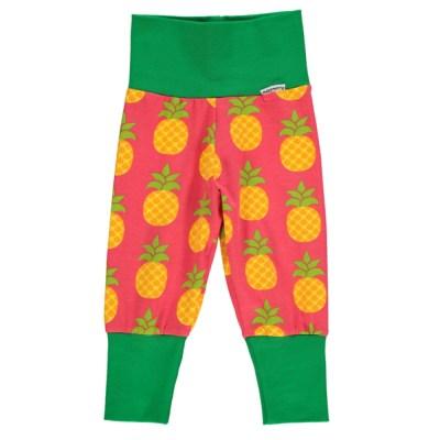 Maxomorra pineapple balloon rib trousers organic cotton