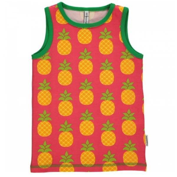 Maxomorra pineapple organic cotton sleeveless vest