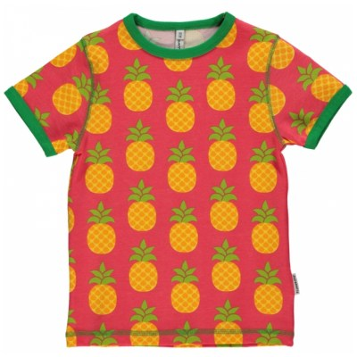 Maxomorra pineapple t-shirt organic cotton