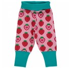 Strawberry organic cotton baggy trousers from Maxomorra