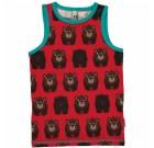 Maxomorra ~ bear organic cotton sleeveless vest  (122-128cm Age 6-8)