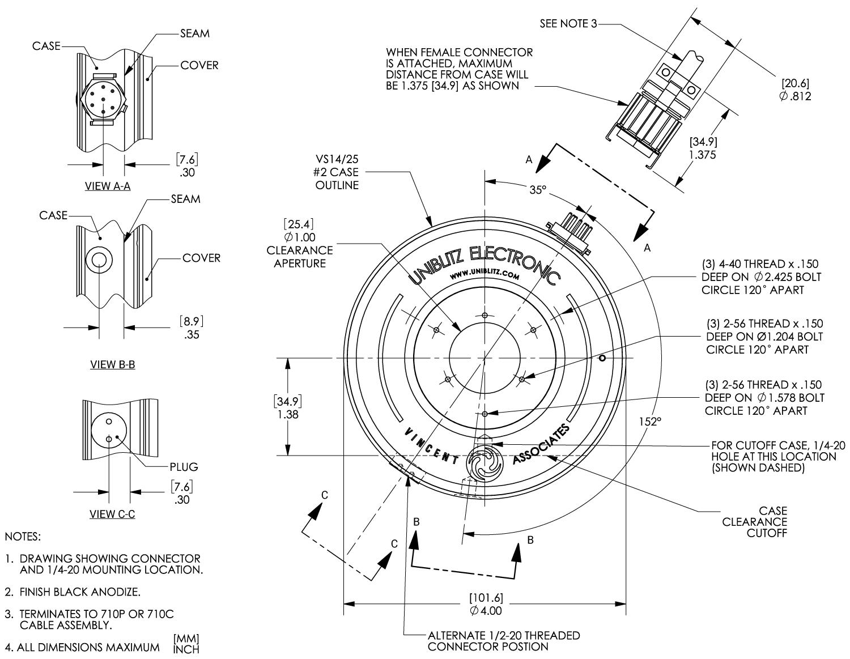 Vs25 25mm Optical Shutter