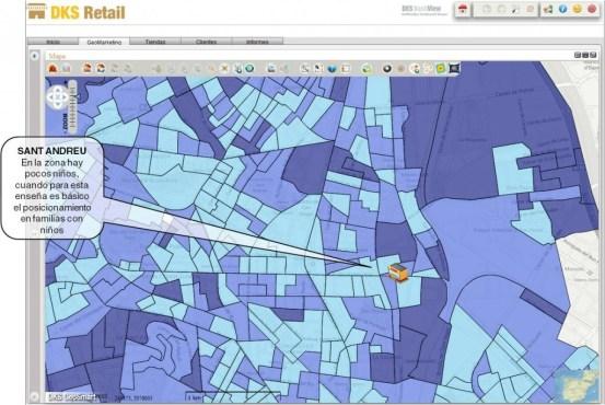 Geosmart retail mapa niños detalle
