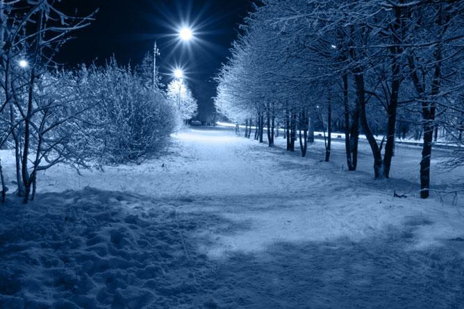 Téli táj.