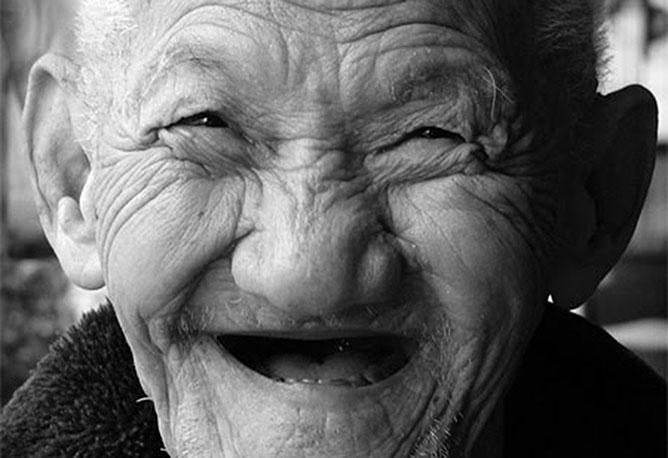 Happy old man.