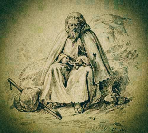 Vándor szerzetes.