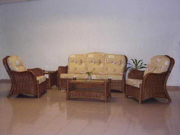 Rozana Wicker Sofa Set