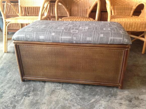 Rattan Bench Box