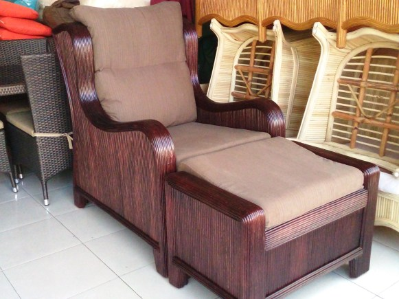 Custom Made Rattan Arm Chair
