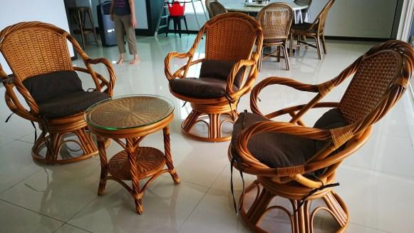 Central Park Swivel Chair Set