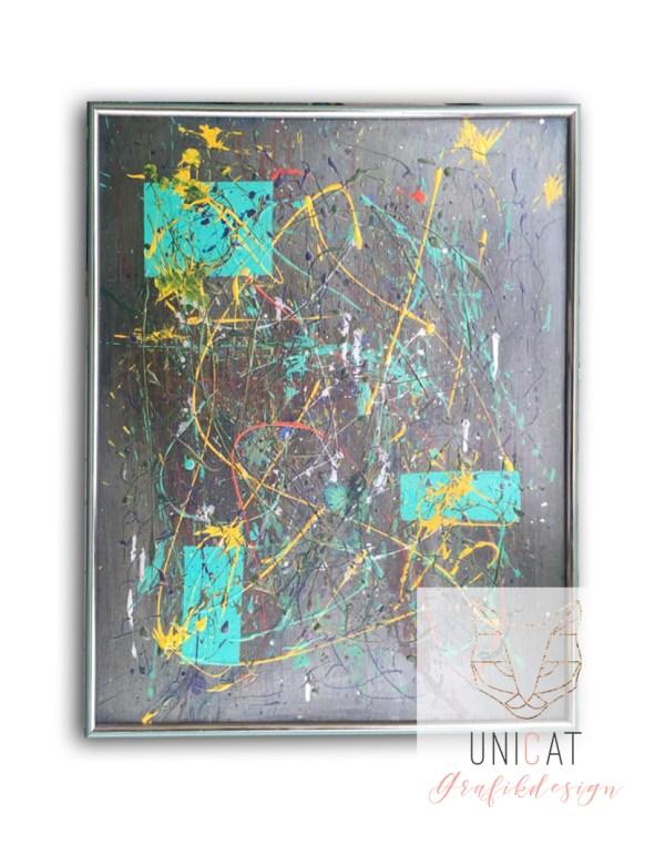 Acrylbild moderne Malerei Leinwand