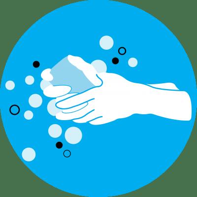 This image shows an illustration of handwashing