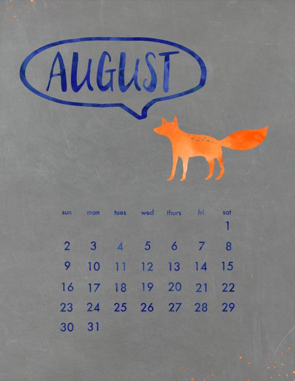 August Calendar (small)