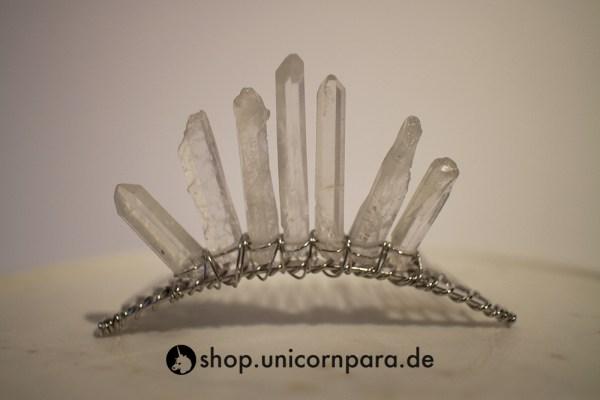 04 clear quartz crystal point tiara four