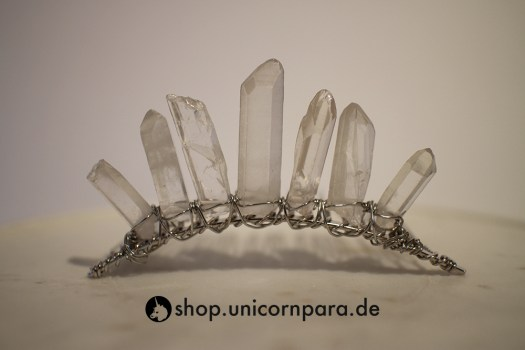 05 clear quartz crystal point tiara five