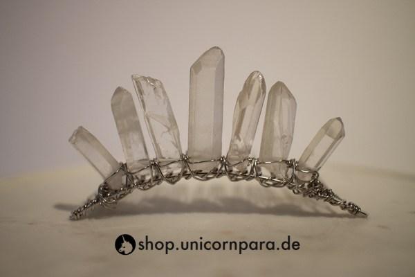 05 clear quartz crystal point tiara five