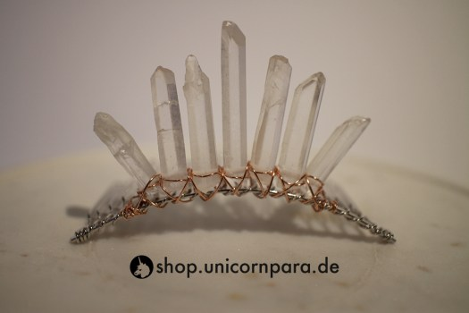 07 clear quartz crystal point tiara seven