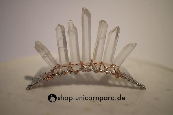 07 clear quartz crystal point tiara seven