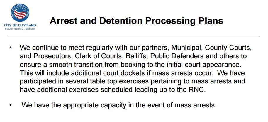 Mass Arrest Preparation