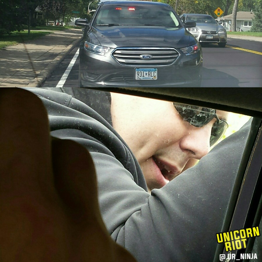 Sgt Mendel pulls over civilian vehicle
