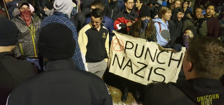 Fights Break Out and Trump Hats Burn as Breitbart Editor Milo Yiannopoulos Speaks at CU Boulder