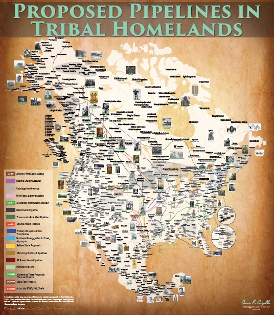 Indigenous-Led Pipeline Resistance Camps Spread Across the USA Pipi