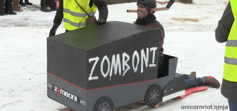 Sleds Plunge Down Powderhorn Ice Gauntlet at Community Art Spectacle