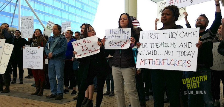 Crowds of Attorneys and Protesters Converge at Airports Across U.S. to Oppose #MuslimBan