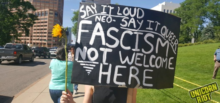 """Anti-Muslim """"March Against Sharia"""" Rally in Denver Met with Resistance"""