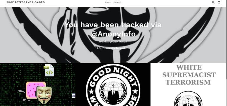 Anti-Muslim Group 'Act For America' Hacked by Anonymous