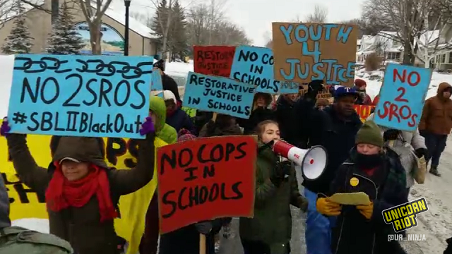 Youth March Demands 'Cops Out of Schools' on Super Bowl Eve