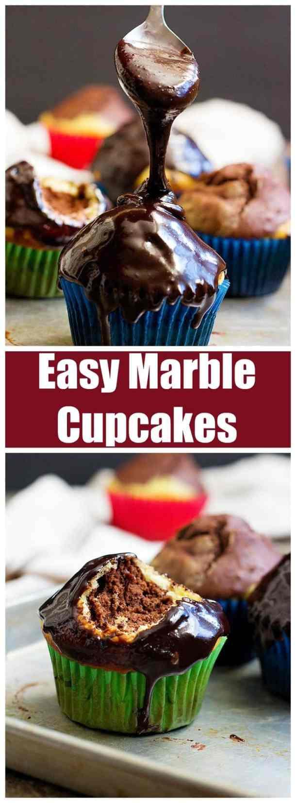 Marble Cupcakes | Marble Cupcakes Recipe | Marble Cupcakes Easy | Vanilla Chocolate Cupcakes | Vanilla Cupcakes | Easy Dessert