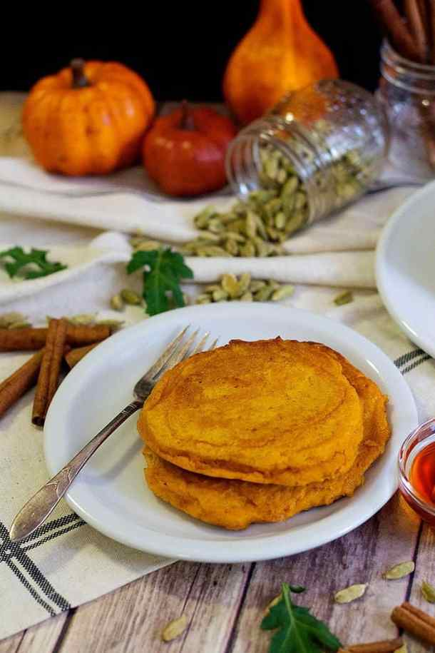 This pumpkin spice pancake recipe is great for fall weekends.