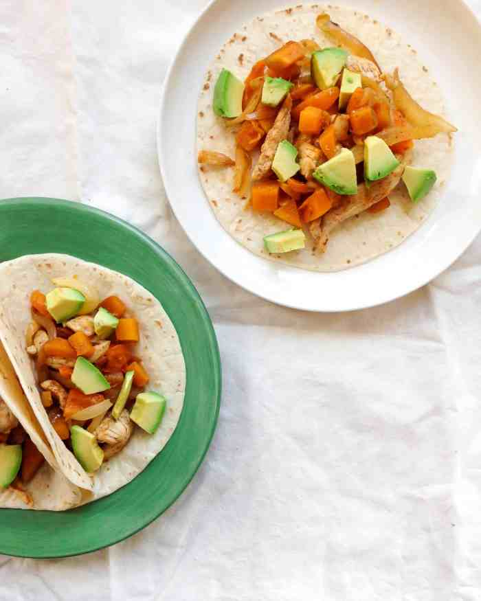 These Chicken Butternut squash tacos are full of fall flavors!