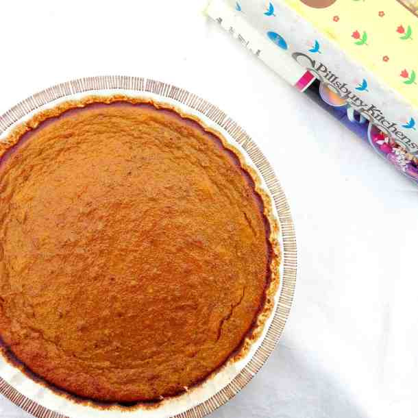 This crustless pumpkin pie recipe is great for Thanksgiving.