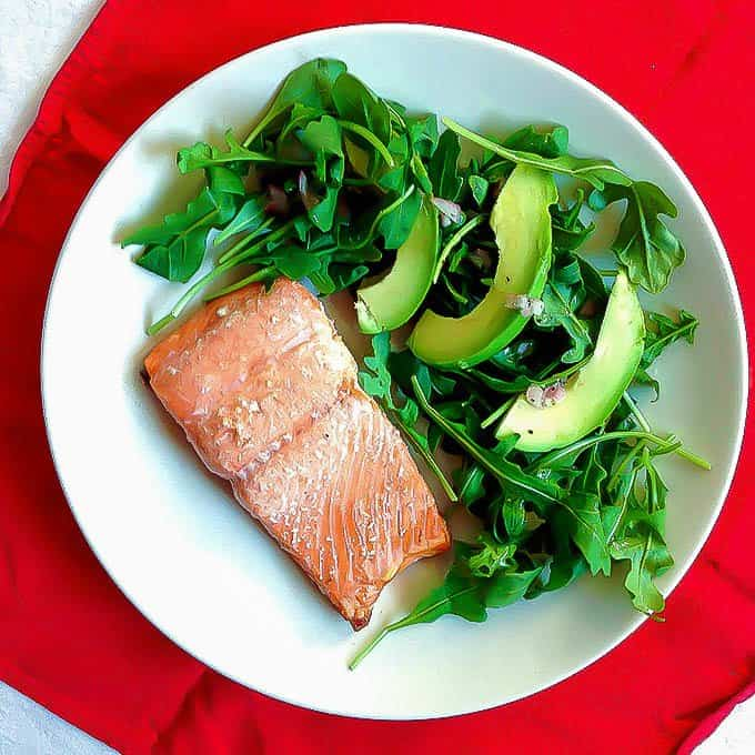 Easy oven baked salmon is a great weeknight dinner that comes together in less than 25 minutes!