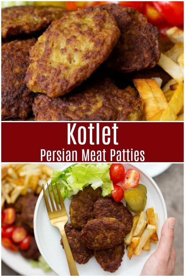 Kotlet aka Persian meat patties are one of a kind and an all-time favorite. They are crispy on the outside and juicy on the inside! #kotlet #kotletrecipe #Persianrecipe #Persianfood #easydinner #meatpatties