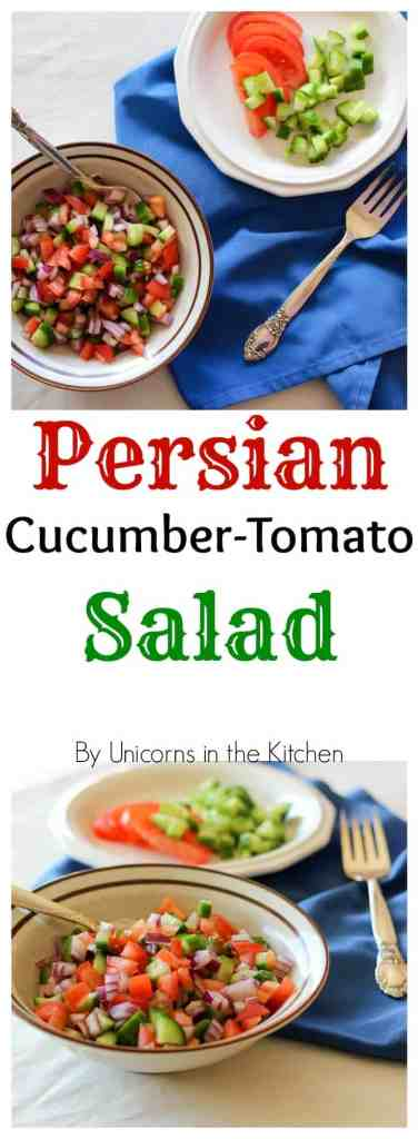 Salad Shirazi is easy and refreshing. It's a great side dish for any meal!