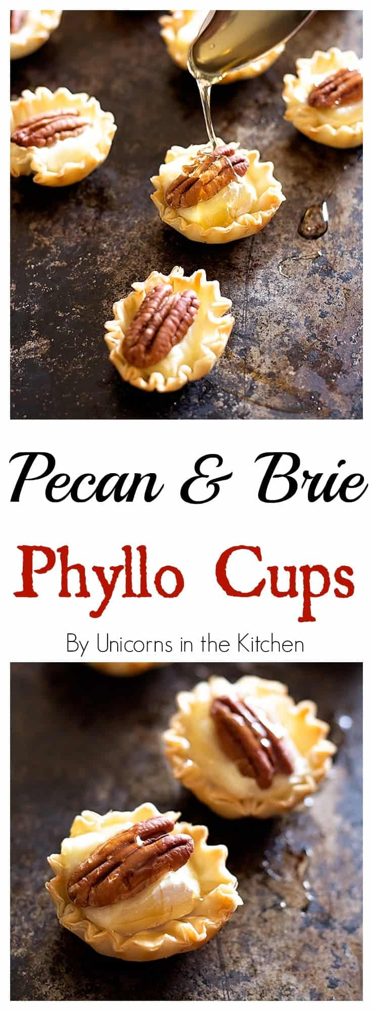 Rock your table with these easy Pecan and Brie Phyllo cups and drizzle some honey on top to boost the flavor! All in 15 minutes and very little effort!