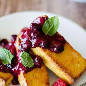 Baked French Toast with Berry Compote